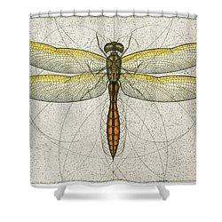Golden Winged Skimmer Shower Curtain