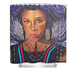 Golden Wodaabe Girl Shower Curtain