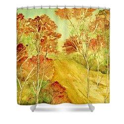 Golden Woods Shower Curtain