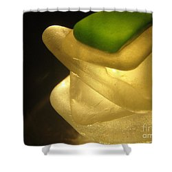 Golden Zen Shower Curtain