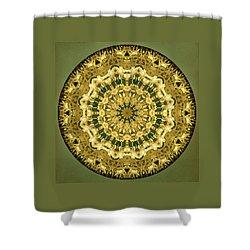 Goldenrod Mandala -  Shower Curtain