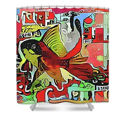 Goldfish #2 Shower Curtain
