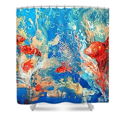 Goldfish Party Shower Curtain
