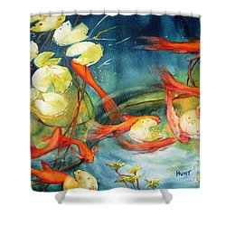 Goldfish Pond Shower Curtain