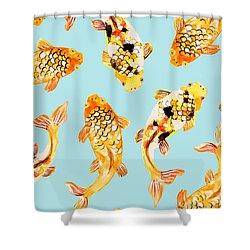 Goldfish Shower Curtain by Uma Gokhale