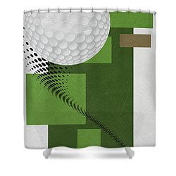Golf Art Par 4 Shower Curtain