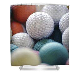 Golf Balls Shower Curtain