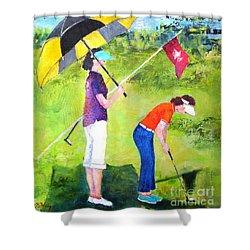 Golf Buddies #3 Shower Curtain