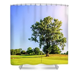 Shower Curtain featuring the photograph Golf Course by Alexey Stiop
