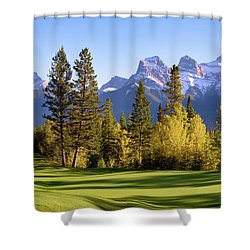 Silvertip Golf Course Shower Curtain