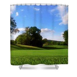 Golf Course Landscape Shower Curtain