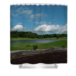 Golf Course The Back 9 Shower Curtain by Chris Flees