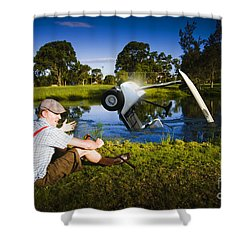 Shower Curtain featuring the photograph Golf Problem by Jorgo Photography - Wall Art Gallery