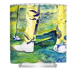 Golf Series - High Hopes Shower Curtain by Betty M M Wong