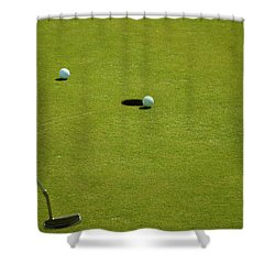 Golf - The Longest Inch Shower Curtain by Chris Flees