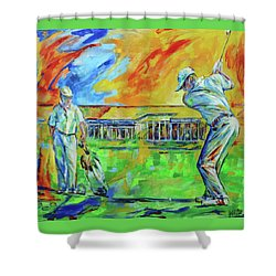 Golfclub Mettmann Shower Curtain by Koro Arandia