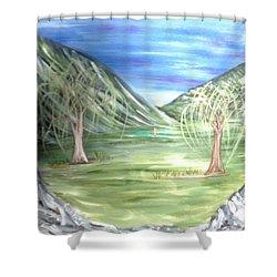 Golfing In Glacier Shower Curtain
