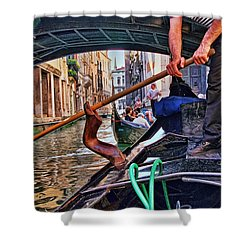 Shower Curtain featuring the photograph Gondola 2 by Allen Beatty