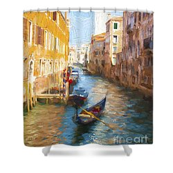 Gondola E Campanile Shower Curtain