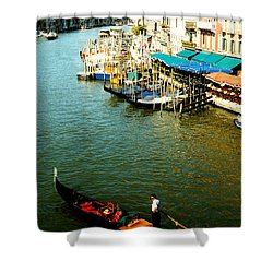Gondola In Venice Italy Shower Curtain by Michelle Calkins