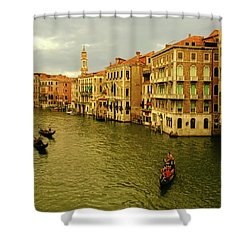 Shower Curtain featuring the photograph Gondola Life by Anne Kotan
