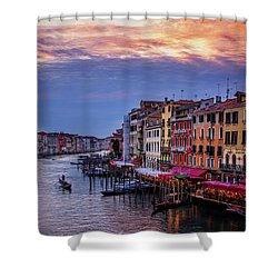 Shower Curtain featuring the photograph Gondola On The Grand Canal by Andrew Soundarajan