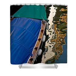 Gondola Reflection Shower Curtain by Harry Spitz
