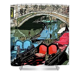 Gondolas Fresco  Shower Curtain