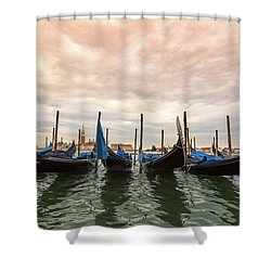 Gondolas In Venice, Italy Shower Curtain