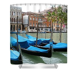 Gondolas Of Venice Shower Curtain