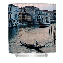Gondolier On Grand Canal Shower Curtain