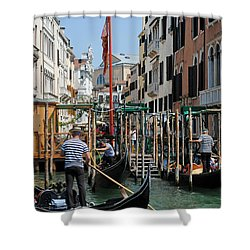 Gondoliers Shower Curtain