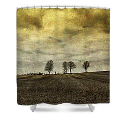 Gone Are Our Days Of Happiness.... Shower Curtain by Russell Styles