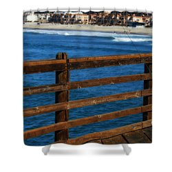 Gone Fishing In Color Shower Curtain