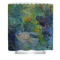 Gone Fishing Shower Curtain by Karen Fleschler
