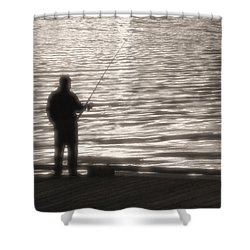 Gone Fishing Shower Curtain by Mark Alan Perry