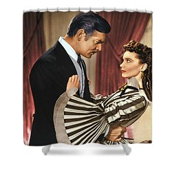 Gone With The Wind - 1939 - Completely Retouched In Color Shower Curtain