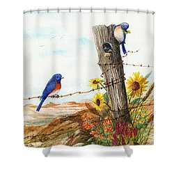 Gonna Find Me A Bluebird Shower Curtain
