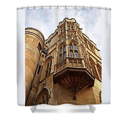 Shower Curtain featuring the photograph Gonville And Caius College Library Cambridge by Gill Billington