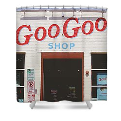 Shower Curtain featuring the photograph Goo Goo Shop- Photography By Linda Woods by Linda Woods