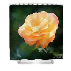 Good As Gold Painted Rose Shower Curtain