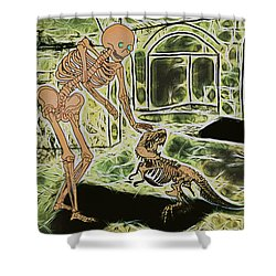 Shower Curtain featuring the digital art Good Boy by John Haldane