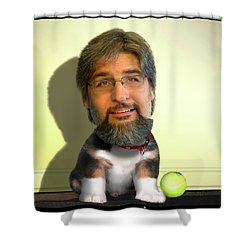 Good Boy Shower Curtain by Mike McGlothlen