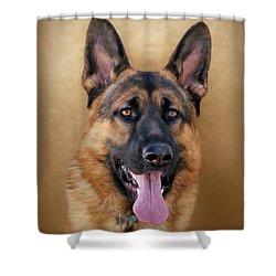 Good Boy Shower Curtain by Sandy Keeton