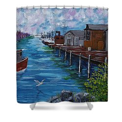 Good Day Fishing Shower Curtain