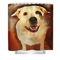 Good Dog Shower Curtain