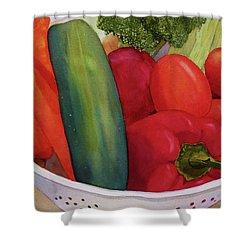 Good Eats Shower Curtain by Judy Mercer