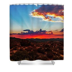 Shower Curtain featuring the photograph Good Evening Arizona by Rick Furmanek