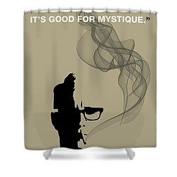 Good For Mystique - Mad Men Poster Roger Sterling Quote Shower Curtain