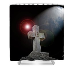 Good Friday Shower Curtain by Bonnie Barry